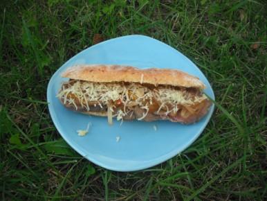 Philly cheesesteak sandwich avec un pain moealleux maison