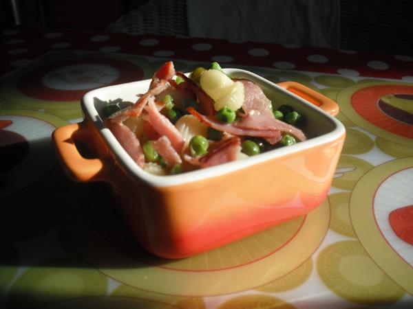 La recette des soirs de flemme p tes petits pois bacon - Cuisiner les petits pois ...