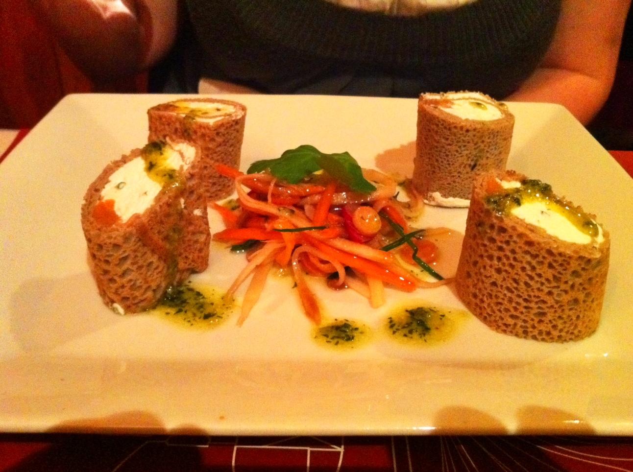 cannellonis de blé noir au saumon et fromage frais