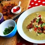 soupe maïs crevettes poireaux pommes de terre