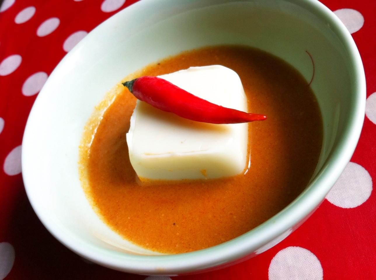 oeuf carré et sauce dakatine