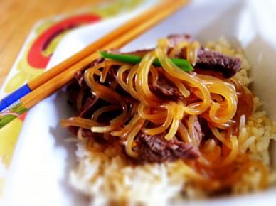 boeuf sauce soja shirataki et riz