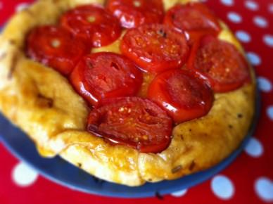 tarte tatin aux tomates et vinaigre balsamique