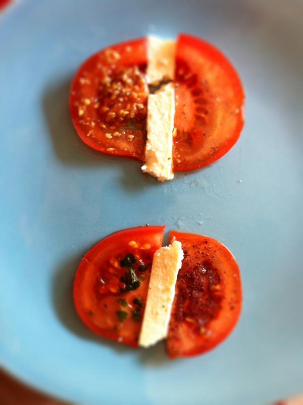 """carpaccio de tomates pour """"Recettes de défi"""""""
