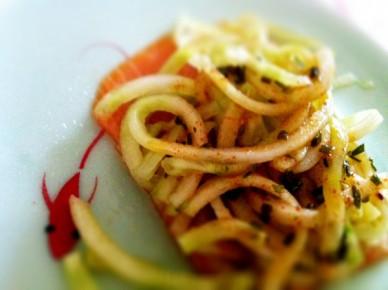 spaghetti de concombres