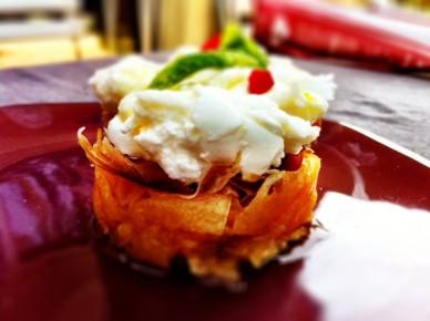 Melon jambon de parme et mozzarella
