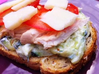 sandwich ricotta courgettes poulet