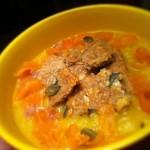 velouté de légumes au saumon fumé
