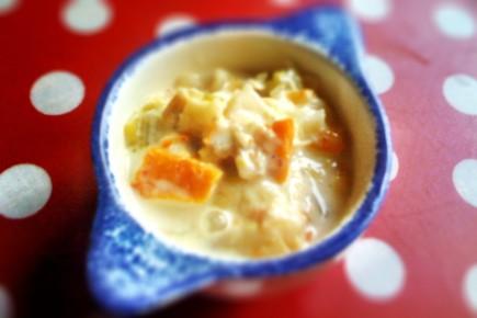 Soupe de légumes au haddock