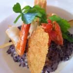 Un risotto au restaurant (merci mon partenaire de vie)