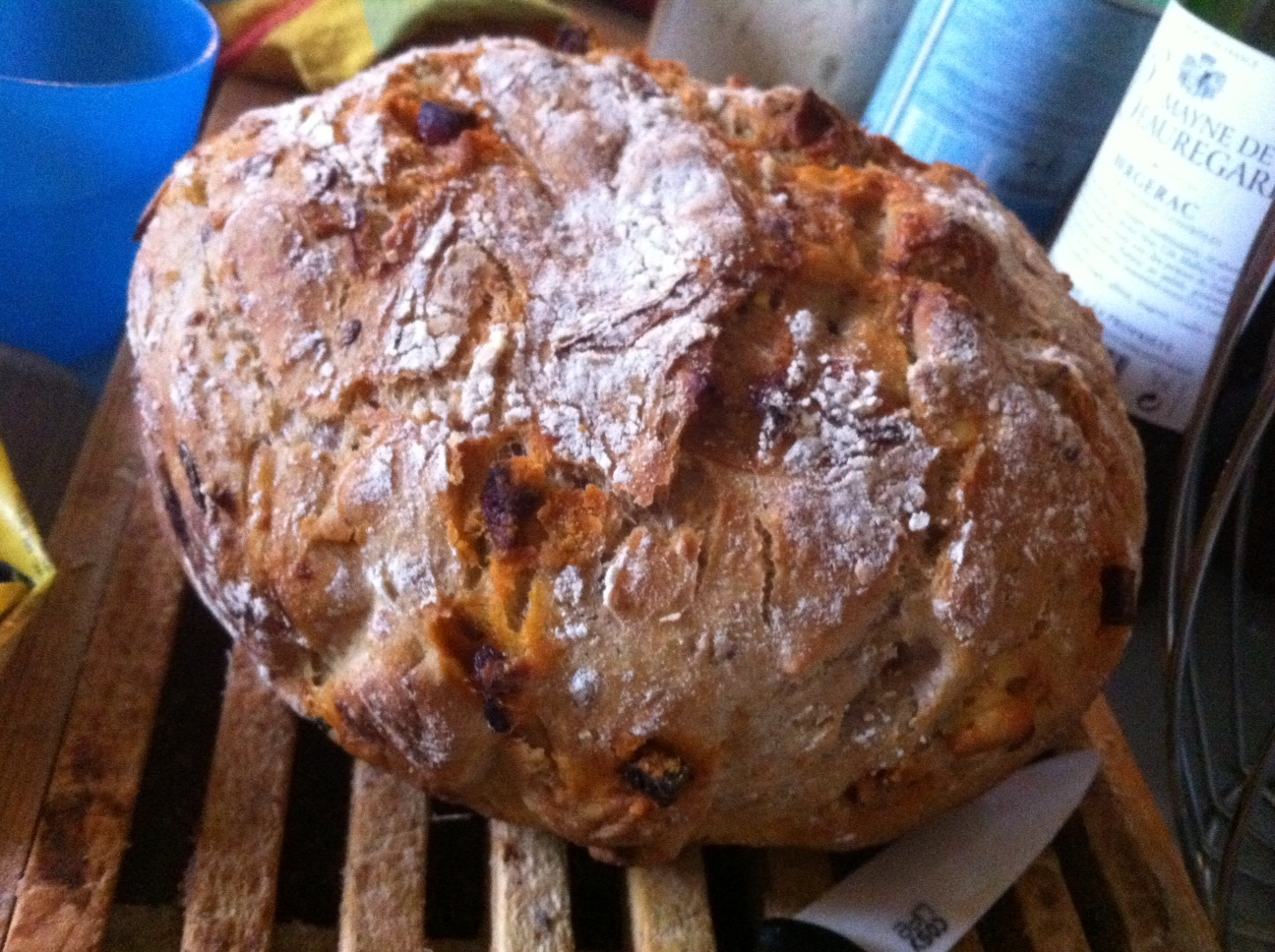 pain cocotte chorizo gouda oignons confits