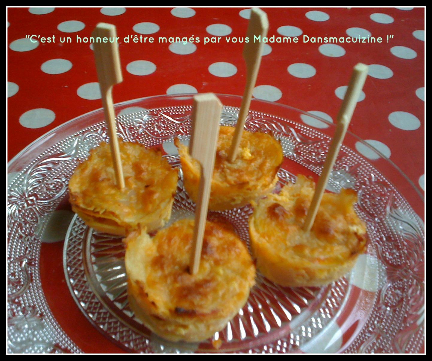 Une id e pour l 39 ap ro 3 mini gratins de pommes de terre dansmacuizine - Idee pour l apero ...