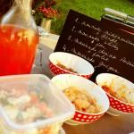 Pierrade et marinades (et les salades en plastique du boucher appréciées de mon partenaire de vie)