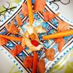 L'entrée des kids joliement présentée dans une assiette venue de Tunisie