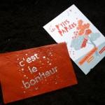 Une nouvelle papeterie a ouvert ses portes rue St Melaine, c'est rempli de trucs hyper jolis (des cartes postales en cuir comme celle-ci par exemple) !