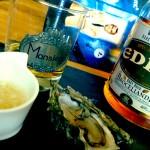 Dégustation huîtres de Quiberon, whisky breton et assaisonnement échalote-yuzu...