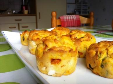 La recette des muffins potiron et feta