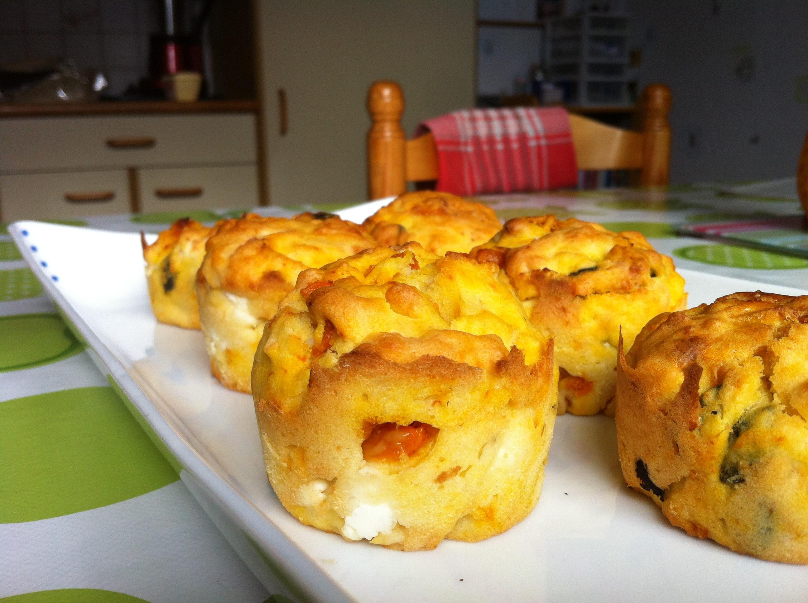 La recette des muffins feta et potiron