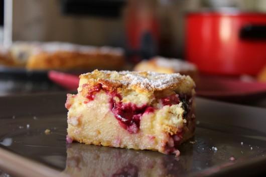 gâteau magique citron framboises myrtilles