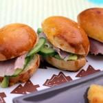 mini sandwichs jambon crudités