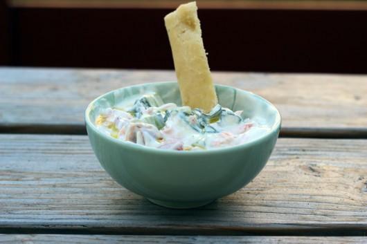 yaourt nature et crudités