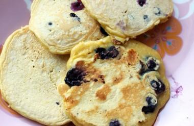 pancakes myrtilles chocolat blan