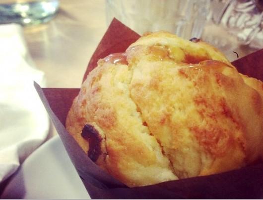 muffin abricot caramel