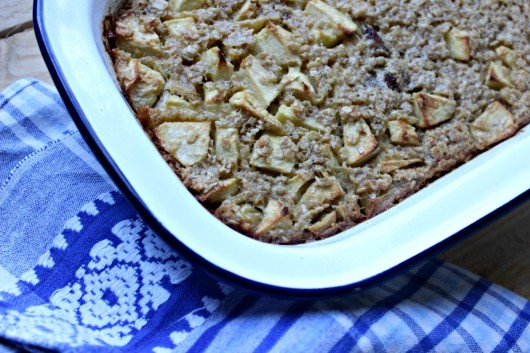 La recette du baked oatmeal aux pommes