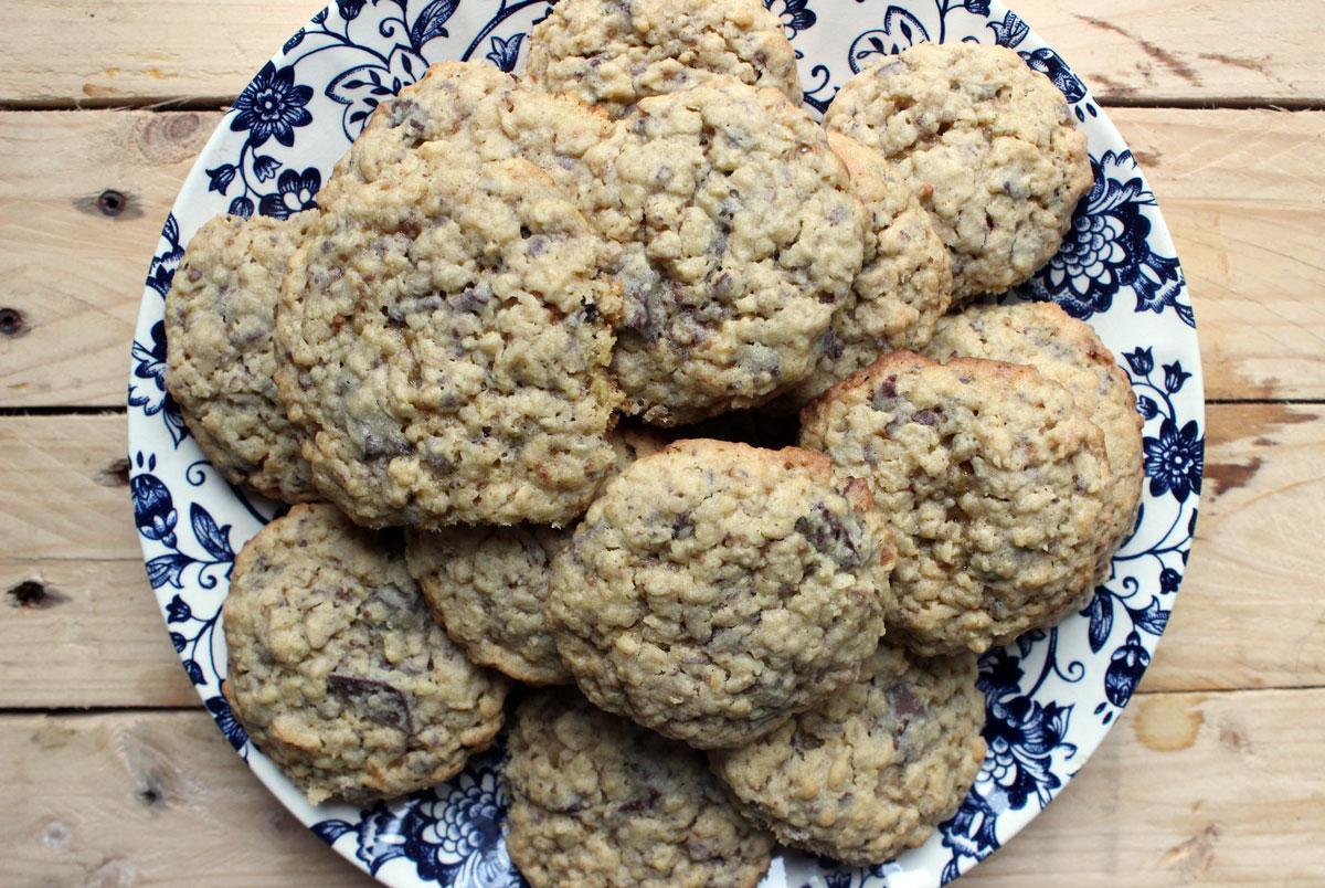 La recette des cookies au chocolat et beurre de cacahouète