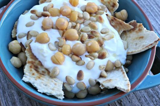 Recette libanaise : fatteh bi hummus