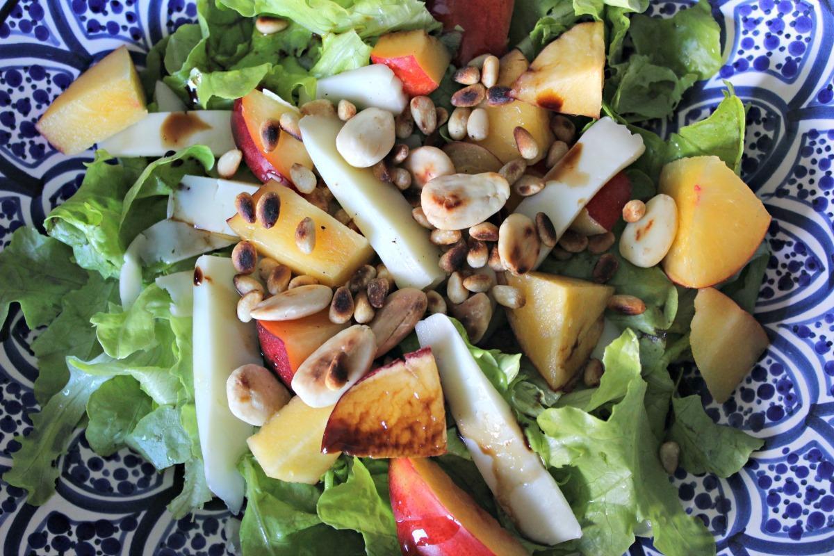 salade nectarine pecorino