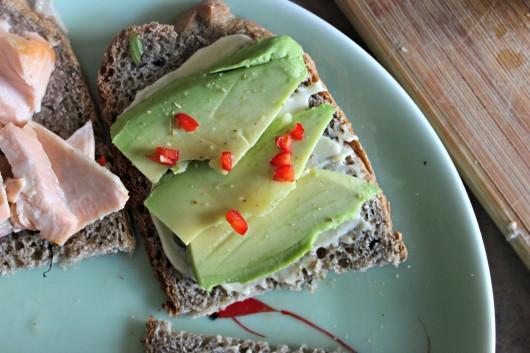 La recette du sandwich avocat et saumon
