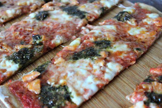 Pizza saumon et pesto