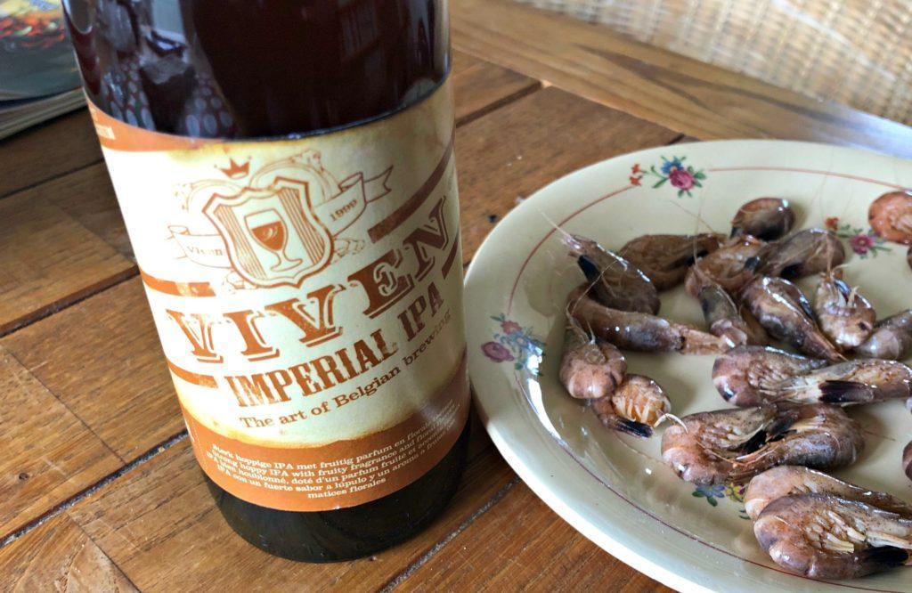 IPA et crevettes grises