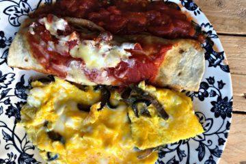 Fajita et omelette pour le brunch