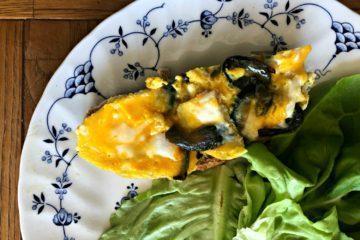 Omelette au haddock et oignons