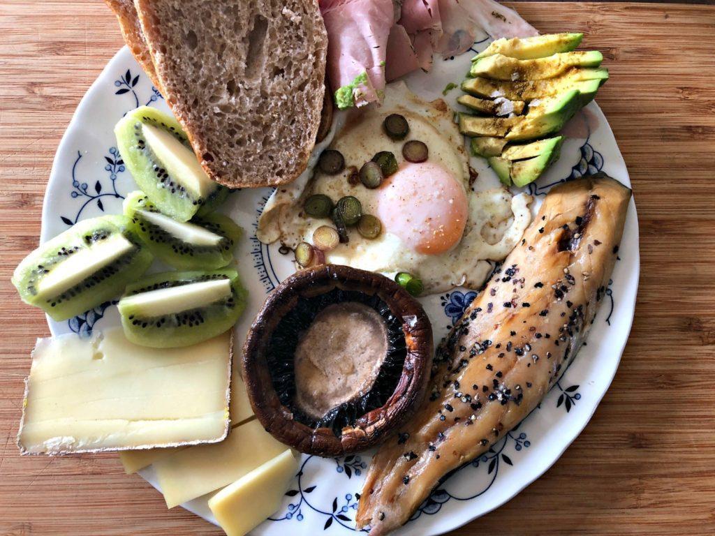 Brunch et champignon portobello