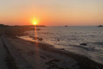 Coucher de soleil à Portivy