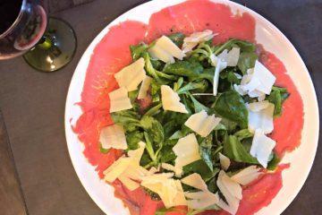 Le carpaccio du restaurant italien Divina Scarpetta