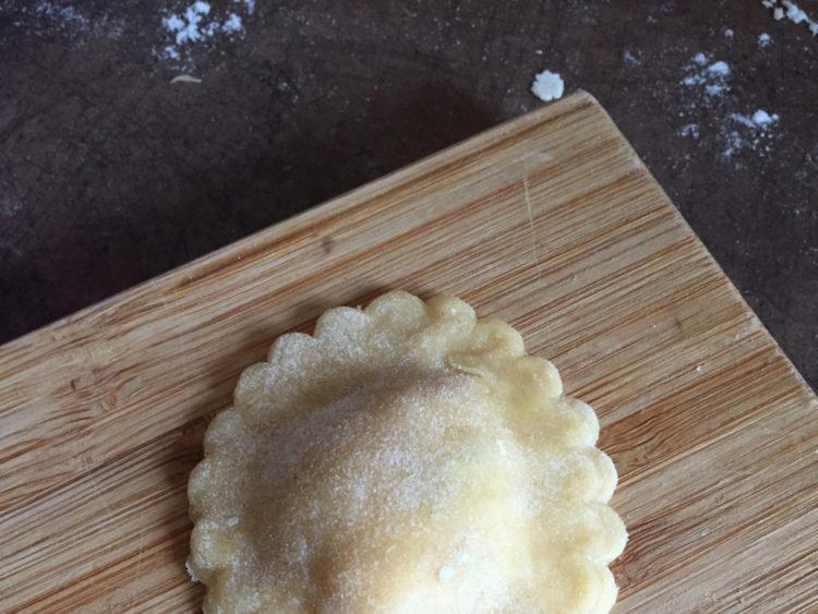 raviole maison mascarpone poivrons parmesan