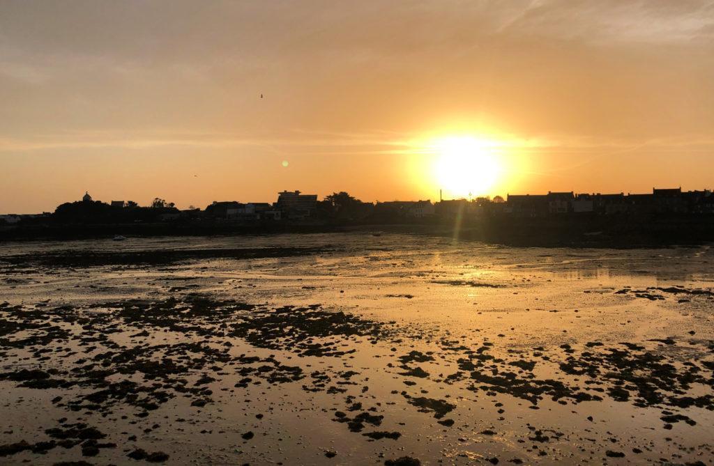 lever de soleil sur Roscoff