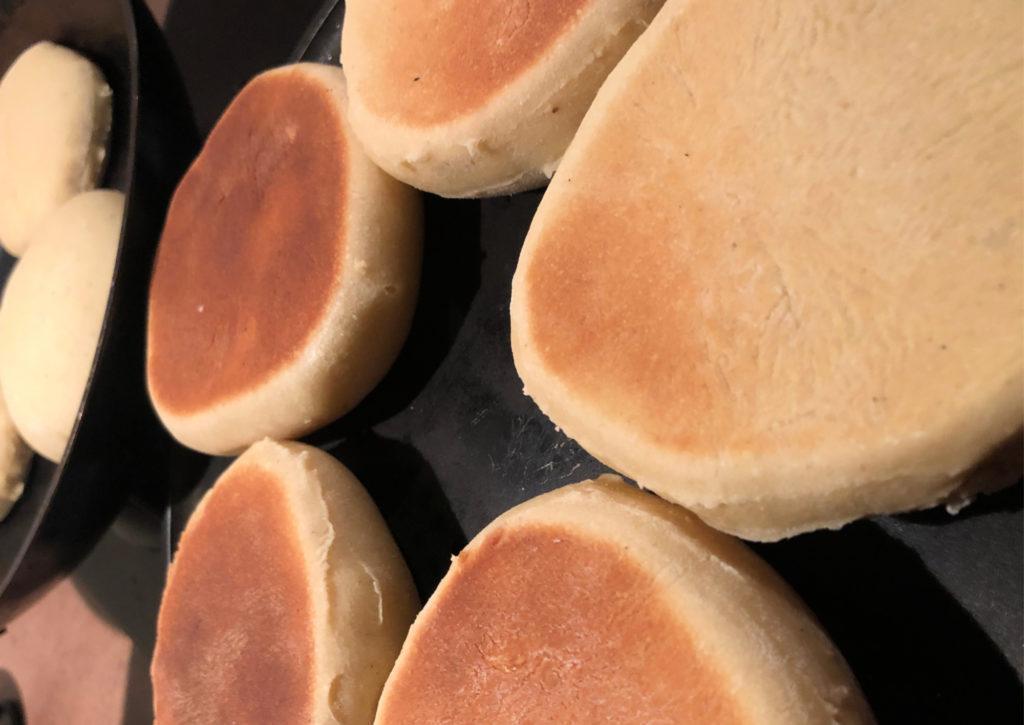 La cuisson des english muffins