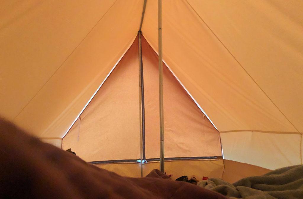 Les tentes de la Belle folie sont spacieuses